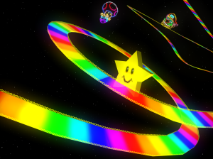 Mario Kart 64- Rainbow Road aka 'Just Kill Me Now'.
