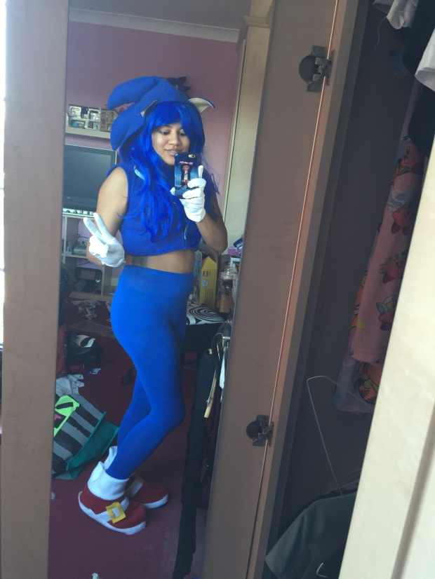 Sonic the hedgehog cosplay
